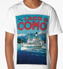 Vintage Lago di Como Travel Long T-Shirt