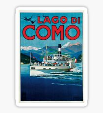 Vintage Lago di Como Travel Sticker