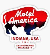 motel americana Sticker