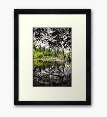 Yosemite mirror lake Framed Print