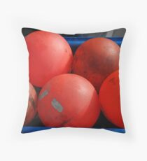 red bouys Throw Pillow