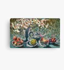 Still Life with Pewter Canvas Print