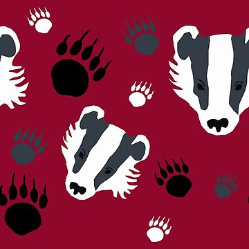 Badger prints by chihuahuashower