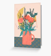 Blumenvase happy Greeting Card