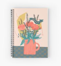 Blumenvase happy Spiral Notebook