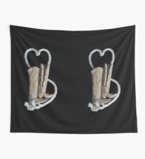 """Lovers Boots""  Hand Sculpted from Stone by Rockos Wall Tapestry"