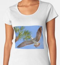 A Seagull Flyby    Women's Premium T-Shirt