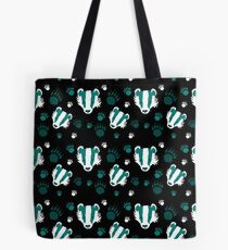 Badger prints in teal Tote Bag