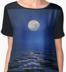 Ole To the Moon Women's Chiffon Top