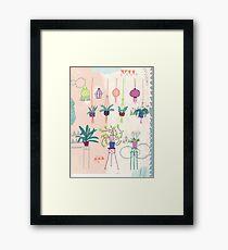 Pflanzen in Pflanzenhängern und Töpfen  Framed Print