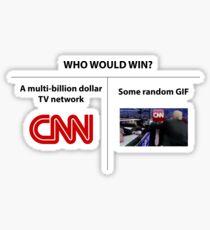 CNN vs Trump Sticker