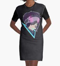 Futuristic Goggles Graphic T-Shirt Dress