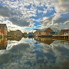 Newark - Trent reflections. by Peter Doré
