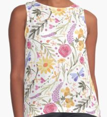 Scattered Summer Bouquet Contrast Tank
