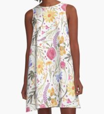 Scattered Summer Bouquet A-Line Dress