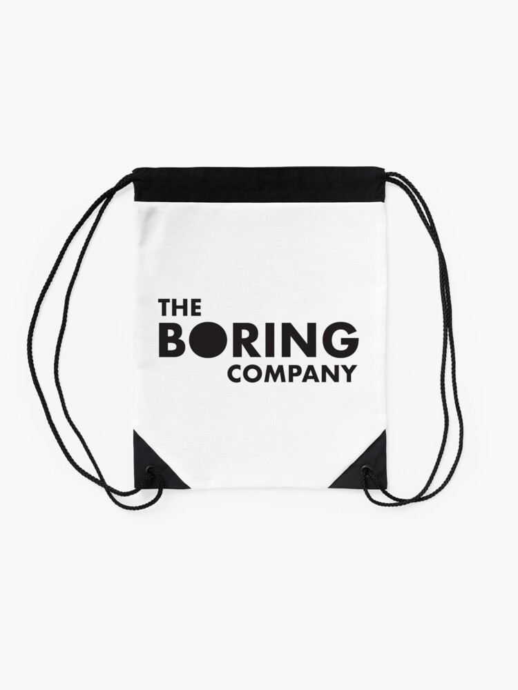 The Boring Company Drawstring Bag By Hicham1991