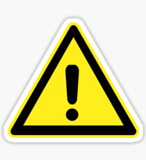 Exclamation Mark Warning Sign Sticker