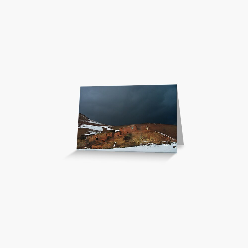 Before storm in the mountains village (Afghanistan) Greeting Card
