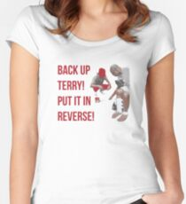 Back Up Terry! Put it in Reverse! Women's Fitted Scoop T-Shirt