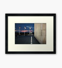 Night falls in the city Framed Print