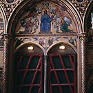 Kings Entrance to Upper Chapel St Chapelle, Built by St Louis 1243-8 Paris 19840818 0025 NOT FOR SALE by Fred Mitchell