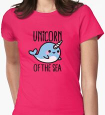 Unicorn of the sea Women's Fitted T-Shirt