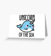 Unicorn of the sea Greeting Card