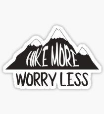 Wanderung mehr Sorgen weniger Bergkette Sticker