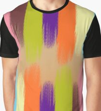 Painted Colorful Streaks Graphic T-Shirt