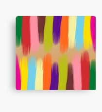 Painted Colorful Streaks Canvas Print