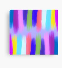 Painted Colorful Streaks 2 Canvas Print