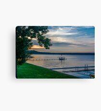 Saratoga Lake Canvas Print