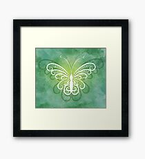 Tranquil Butterfly on Green Framed Print