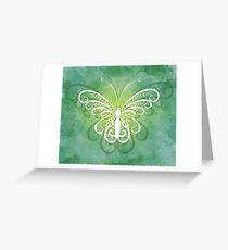 Tranquil Butterfly on Green Greeting Card