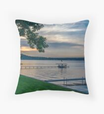 Saratoga Lake Throw Pillow