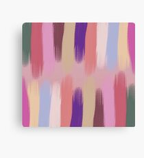 Pained Colorful Streaks 3 Canvas Print