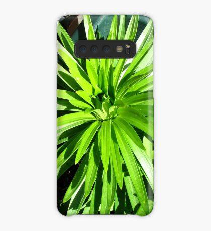 Green and Gorgeous - Sunlit Lily Leaves Hülle & Klebefolie für Samsung Galaxy