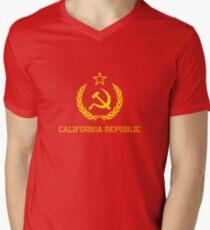 California Republic Communist Men's V-Neck T-Shirt