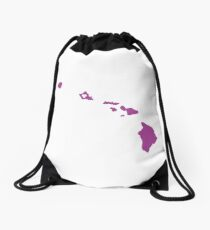 Hawaii Love Drawstring Bag