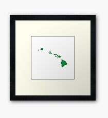 Hawaii Love Framed Print