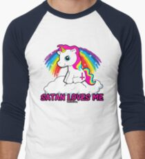 Satan Loves Me Shirt - Funny Satanic, Funny Occult Design, T-Shirt  T-Shirt