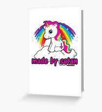 Made By Satan Shirt - - Offensive Tshirts, Satanic Shirts, Funny Atheist Shirt T-Shirt  Greeting Card