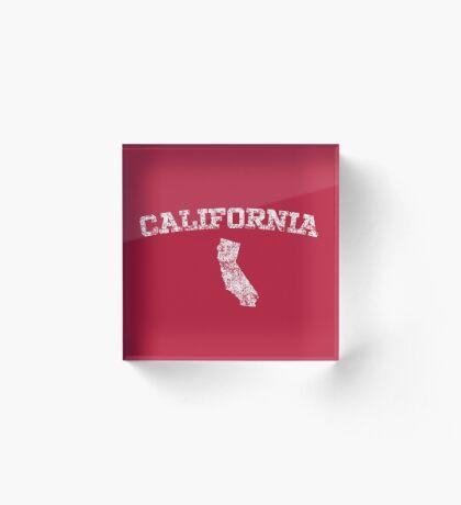 Retro & Vintage California States Shape Acrylic Block