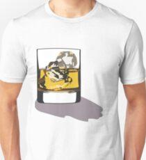 Whiskey Glass Sticker T-Shirt