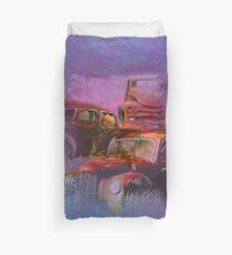 cars lost in the mist of time Duvet Cover