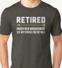 Retired Under New Management Shirt Retirement 2017 T-Shirt For Grandpa and Grandma T-Shirt