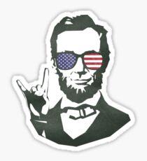Abe Lincoln Rock On! Sticker