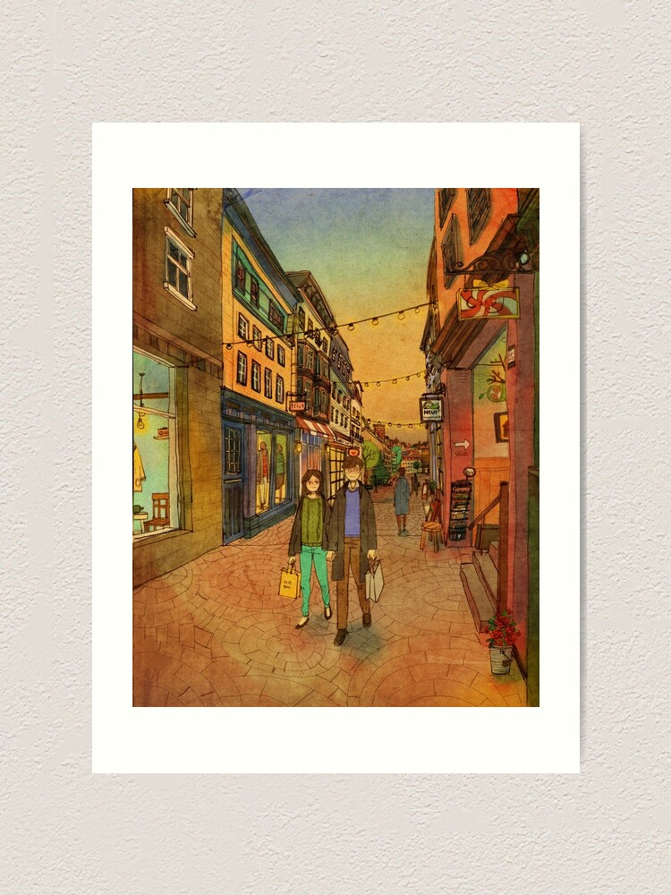 Alternate view of Holding hands and walking together Art Print
