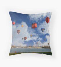 Balloon Fiesta, Canberra, AUSTRALIA Throw Pillow