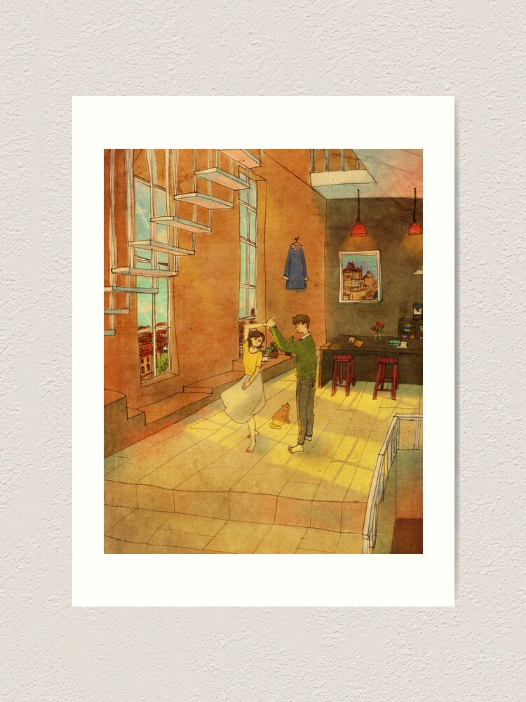 Alternate view of Dancing at home Art Print